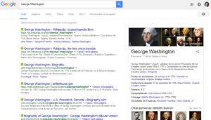 SEM o SEO Web Google Ejemplo 1